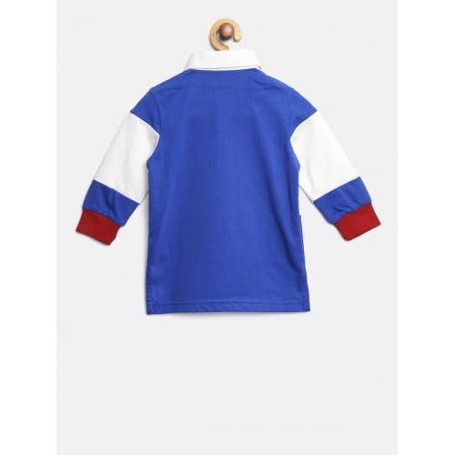 United Colors of Benetton Boys Blue Colourblocked T-shirt