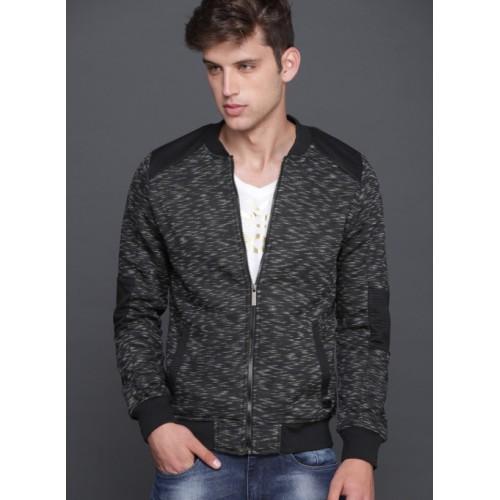 WROGN Black Solid Sweatshirt