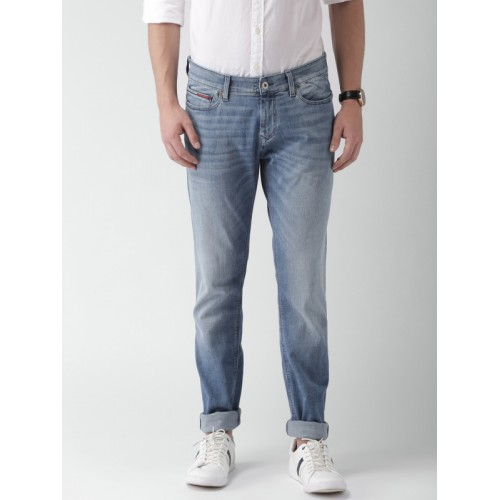 0089eb2e4 ... Tommy Hilfiger Men Blue Skinny Fit Mid-Rise Clean Look Stretchable Jeans  ...