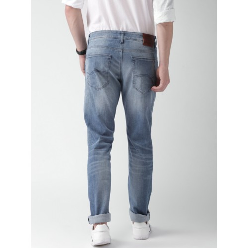 Tommy Hilfiger Men Blue Skinny Fit Mid-Rise Clean Look Stretchable Jeans
