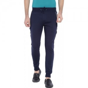 Campus Sutra Solid Men's Blue Track Pants