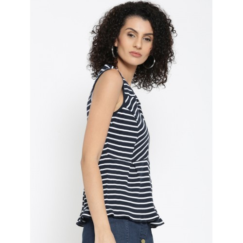 b8973462a Buy United Colors of Benetton Women Navy & White Striped Top online ...