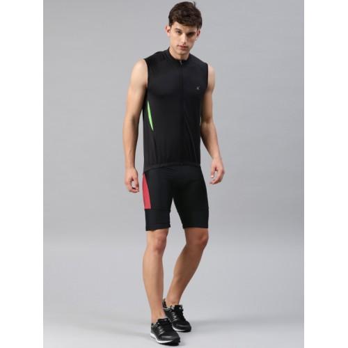 HRX by Hrithik Roshan Active Men Black & Red Cycling Shorts