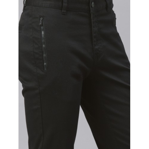 HRX by Hrithik Roshan Men Black Slim Fit Chinos