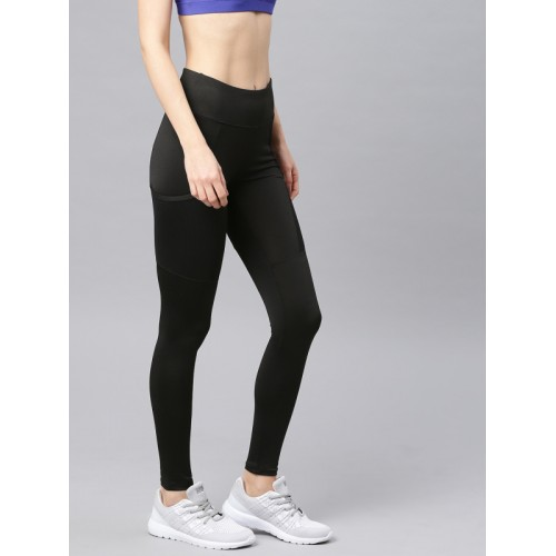 HRX Active by Hrithik Roshan Women Black Solid Rapid Dry Tights