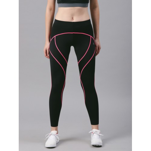 8b532063331c5 ... HRX Active by Hrithik Roshan Women Black Compression Tights ...
