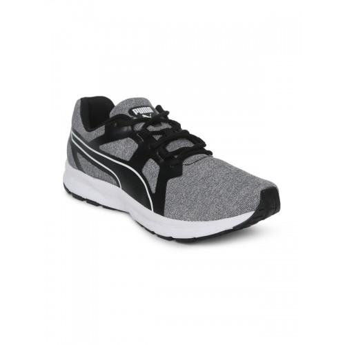 ba1d952f2dca9c Buy Puma Men Grey   Black Colourblocked Vertex IDP Running Shoes ...