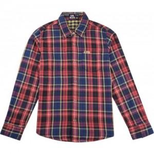Flying Machine Boys Checkered Casual Blue Shirt