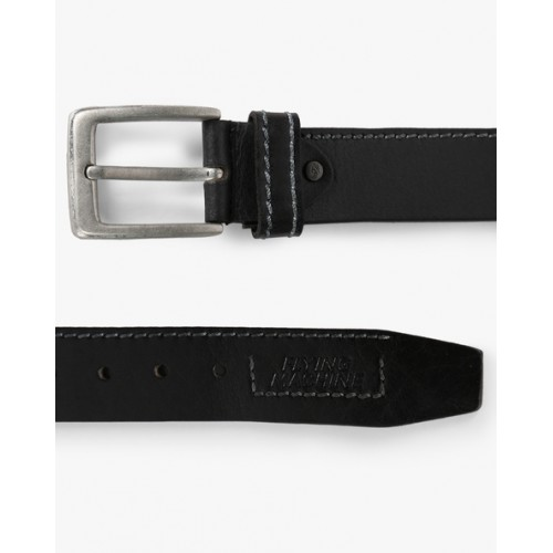 FLYING MACHINE Pure Leather Belt with Buckle Closure