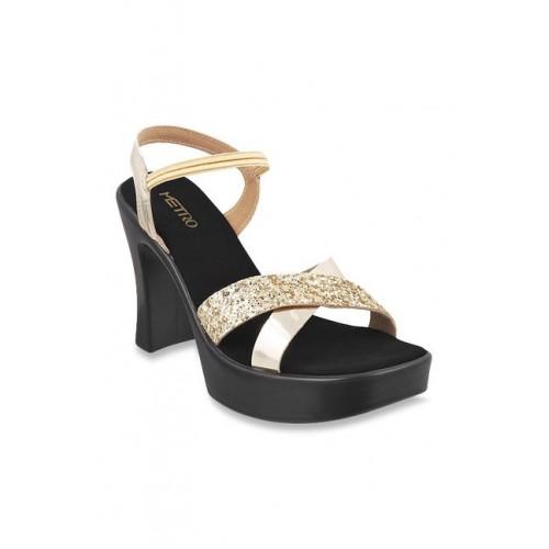Metro Golden Heeled Sandals