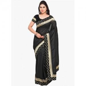 Blissta Black Embellished Saree