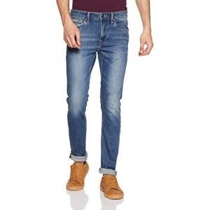 US Polo Association Blue Cotton Skinny Fit Jeans