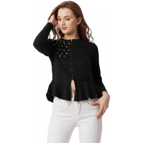 Miss Chase Full Sleeve Embellished Women Jacket