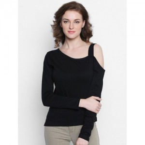 The Dry State Casual Full Sleeve Solid Women's Black Top