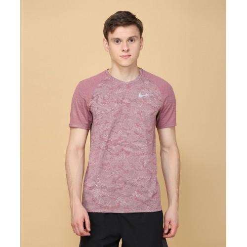 b0fe8e49e Buy Nike Self Design Men Round Neck Purple T-Shirt online | Looksgud.in