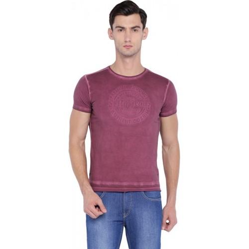 Allen Solly Solid Men Round Neck Purple T-Shirt