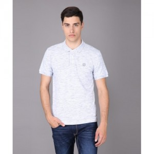 Aeropostale Self Design Men's Polo Neck Grey T-Shirt