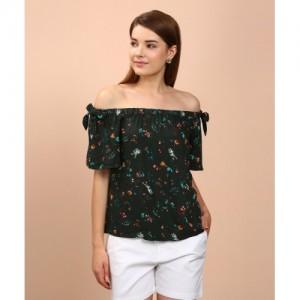 Vero Moda Casual Short Sleeve Printed Women's Green Top