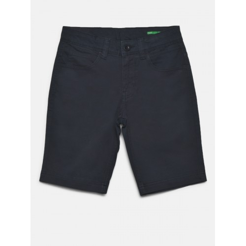 3e2bc3e618d ... United Colors of Benetton Boys Navy Blue Solid Regular Fit Shorts ...