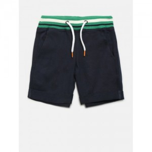 14d5892fd3 United Colors of Benetton Boys Navy Blue Solid Regular Fit Shorts
