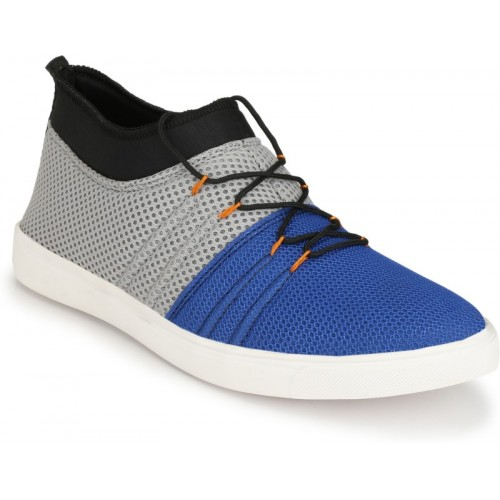 ZebX Sneakers For Men(Grey, Blue)