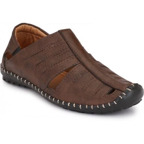 ZebX Men Brown Sandals