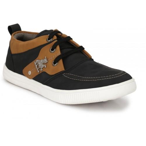 ZebX Sneakers For Men(Black, Brown)