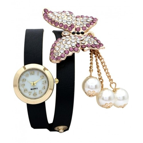 a4b0c1ad39f ... FAP Vintage Analog Butterfly Design Womens ladies girls watches black  colour ...