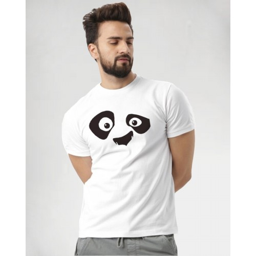 Young Trendz Graphic Print Men Round Neck White, Black T-Shirt