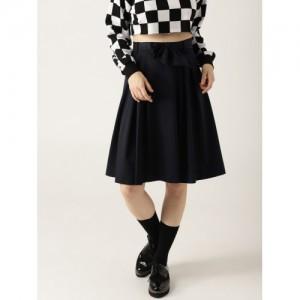 3f5f77436d Buy Marks & Spencer Off-White Self-Design A-Line Midi Skirt online ...