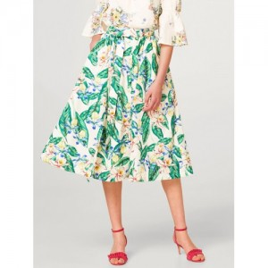 9a6ef3847 Marks & Spencer Off-White & Green Printed Flared Skirt. ₹1749 ₹4999 Myntra