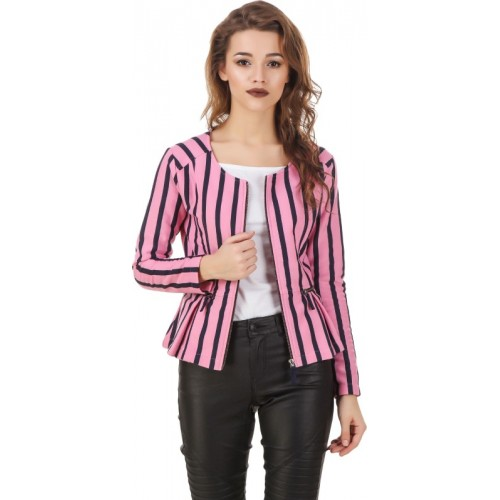 Texco Full Sleeve Striped Women's Jacket