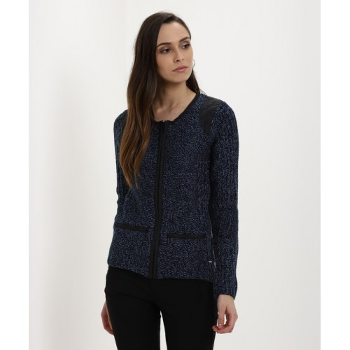 Buy Numero Uno Self Design Round Neck Casual Women s Dark Blue ... 5aa364fe3