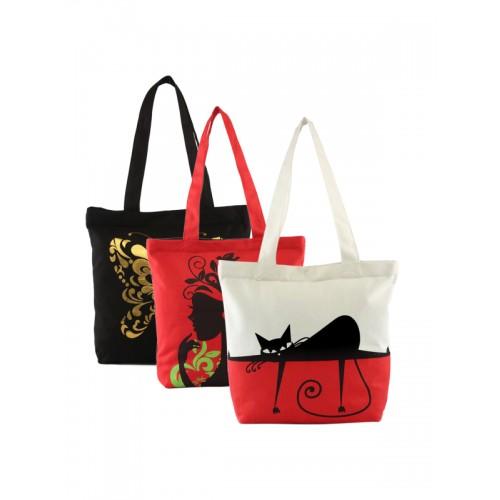 Vivinkaa Set of 3 Printed Tote Bages