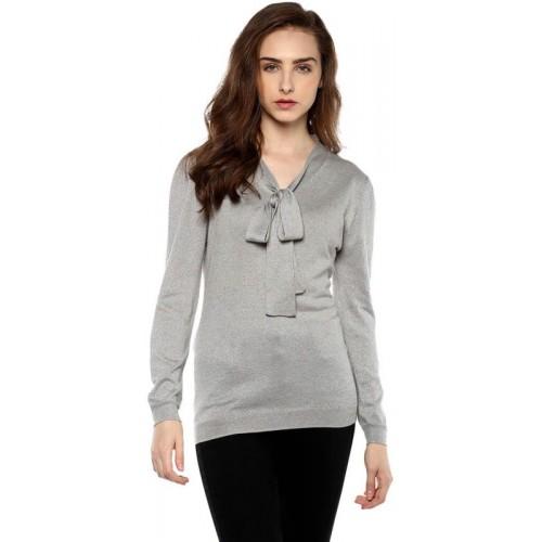 Moda Elementi V-neck Solid Women's Pullover