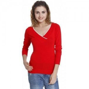 Only V-neck Solid Women's Pullover