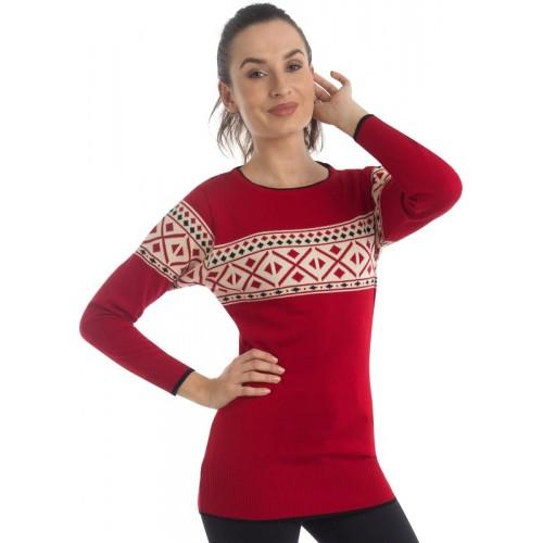 Zoravie Round Neck Striped Women's Pullover