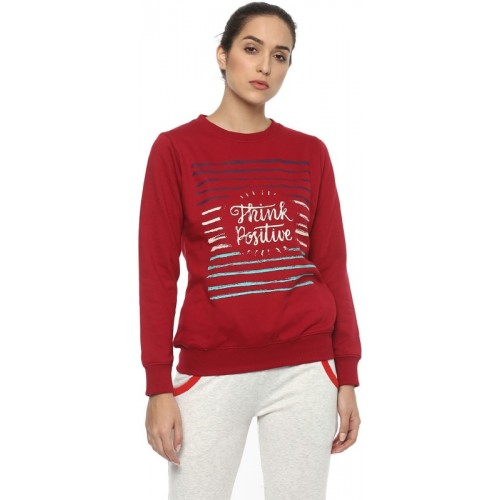Cayman Round Neck Printed Women's Pullover