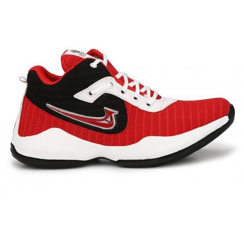 DE ROCK Men's Red Sports Shoes