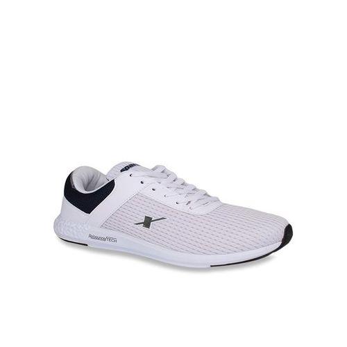 Sparx Men SM-398 White Navy Blue Walking Shoes For Men(White, Navy)