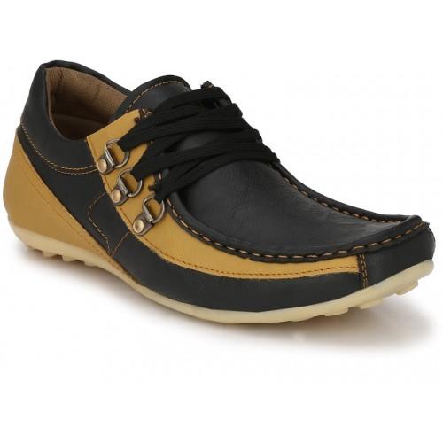 DE ROCK  Men's Black Casual Shoes