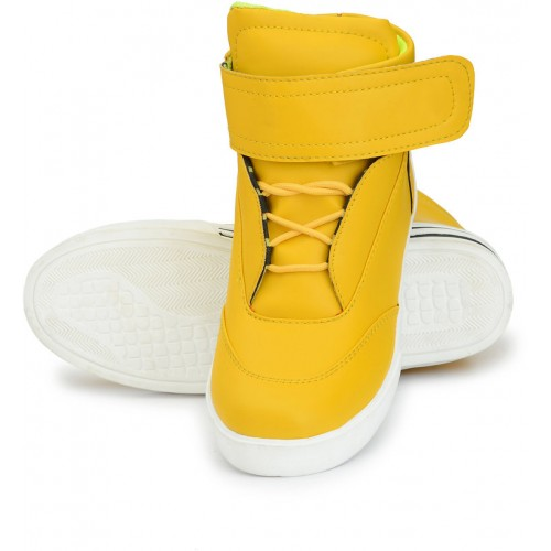 DE ROCK  Men's Yellow Lace-up Sneakers