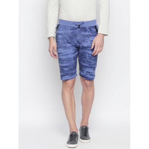 beevee Men Blue Printed Regular Shorts
