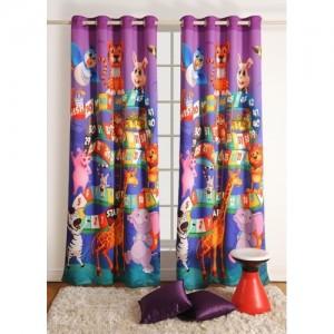 Swayam 228.6 cm (8 ft) Polyester Door Curtain Single Curtain(Printed, Multicolor)