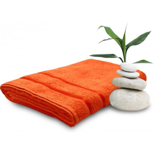 Story@Home Cotton 400 GSM Bath Towel(Orange)