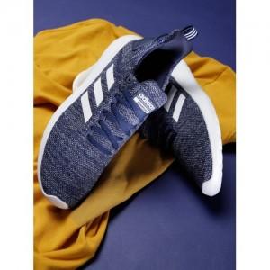 Adidas Men Blue Lite Racer BYD Patterned Running Shoes