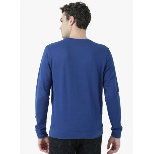Huetrap Navy Blue Printed Sweatshirt