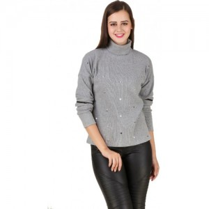 Texco Grey Non Hooded Sweatshirt for Women