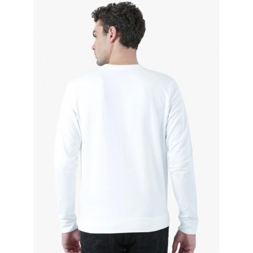 Huetrap White Printed Sweatshirt