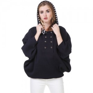 Texco Hooded Navy Cape Sweat shirt